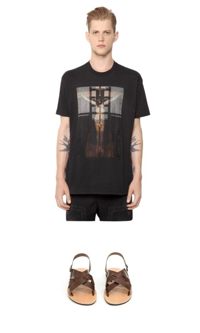 """When Kito1981 meets Givenchy"" by kito1981 on Polyvore featuring Givenchy, mens, men, men's wear, mens wear, male, mens clothing, mens fashion, sandals and ootd"