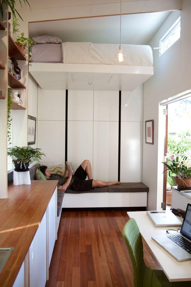 die 25+ besten ideen zu platzsparendes bett auf pinterest ... - Platzsparend Bett Decke Hangen