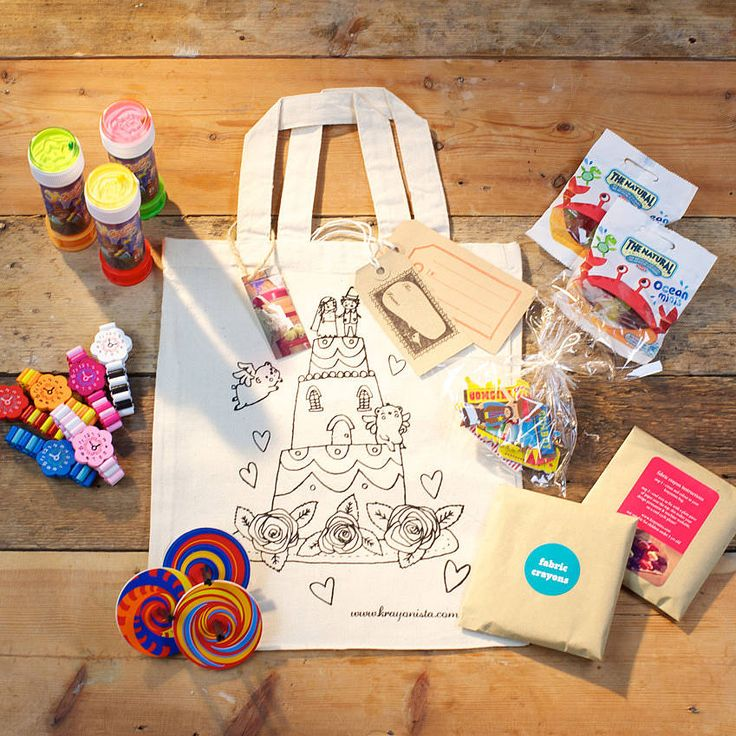 Colour In Party Activity Bag With Gifts from notonthehighstreet.com