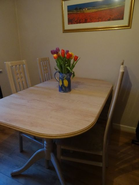 Extending limed oak table with six chairs  including two carver chairs  on  Gumtree  Extending limed oak dining table with four dining chairs and two  carver. 21 best Dining room images on Pinterest   Dining rooms  Welsh