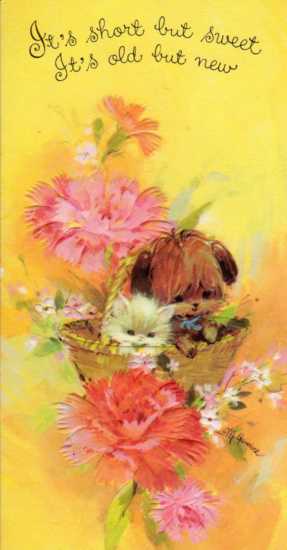 173 Best Vintage Birthday Cards And Vintage Greetings Cards Images