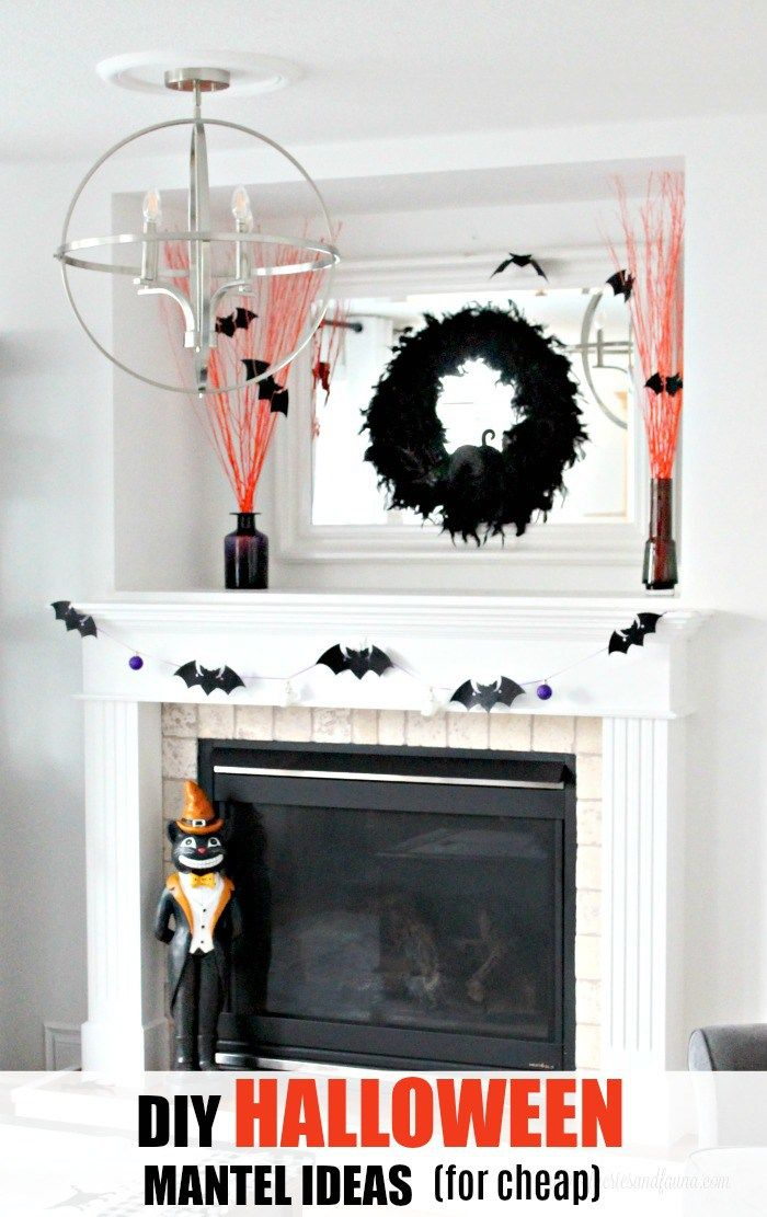 DIY Halloween Mantel with Three Easy Halloween Crafts Holiday