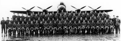 617 Squadron photograph taken on 9 July 1943, a few days before Wing Commander Guy Gibson left the squadron.