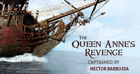 pirates of the caribbean the queen anne's revenge captained by hector barbossa