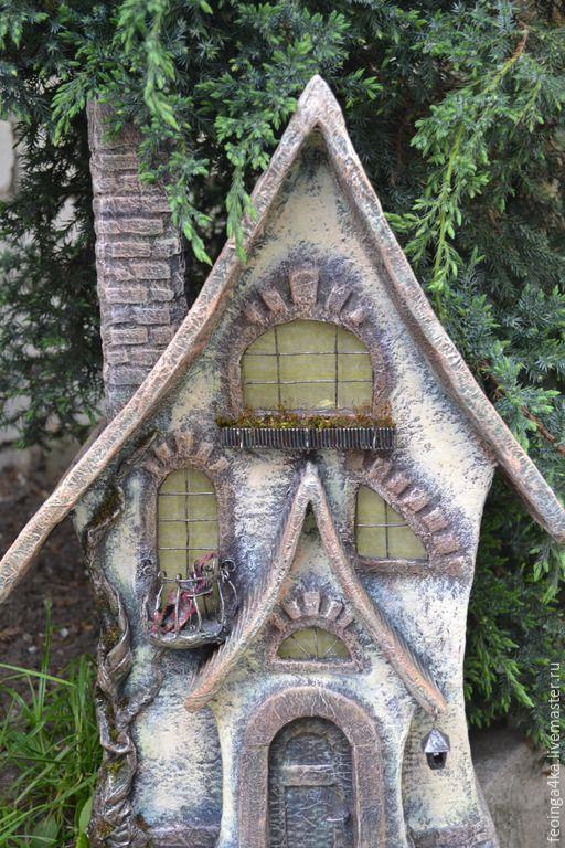 Купить Старый дом.Ночкик. - разноцветный, дом, ночник, старинный стиль, светодиод, папье-маше