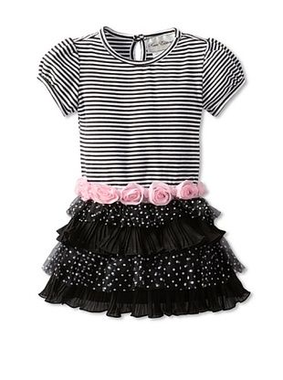 65% OFF Rare Editions Girl's 2-6X Toddler Tiered Dress (Black)