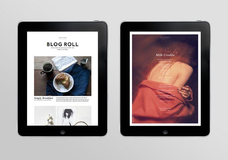 Milk iPad Magazine - Natasha Mead—Graphic & Webdesign