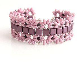 Náramky - Ružovo fialová neha - 6228404_