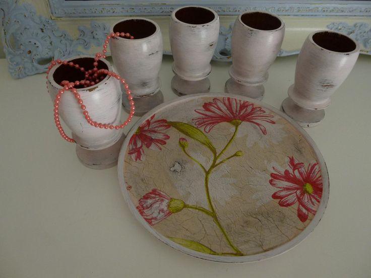"""Becher-Set """"Floral"""" von Mosaikhandwerk auf DaWanda.com"""