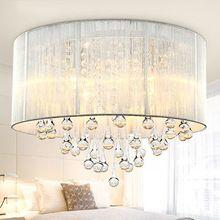 ¡ Caliente! envío Libre LLEVÓ la Luz de Techo de Cristal AC90-260V E14 Fuente de Luz Dormitorio/Comedor Lámpara de Techo(China (Mainland))