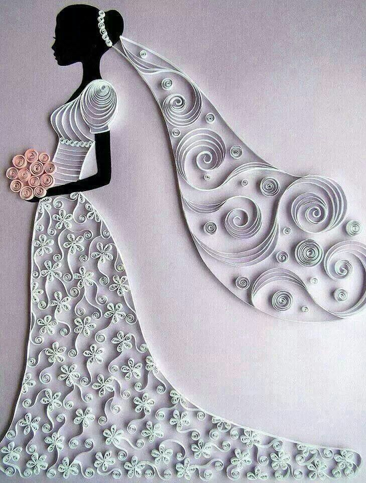 Quilled Bride #Wedding