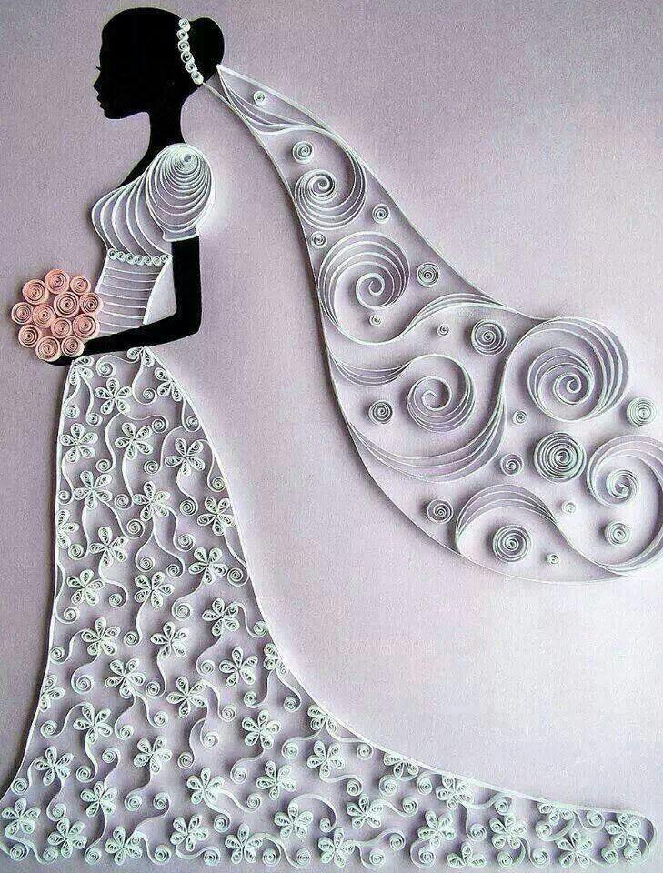 Quilled Bride #Wedding