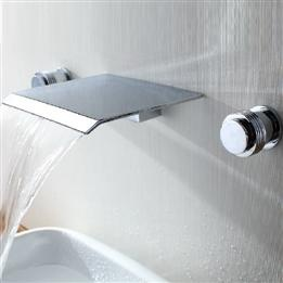 Wall Mount Finishing Stainless Steel Waterfall Bathroom Sink Faucet    DinoDirect.com
