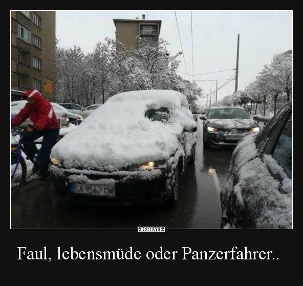 Faul, lebensmüde oder Panzerfahrer.. | Lustige Bilder, Sprüche, Witze, echt lustig