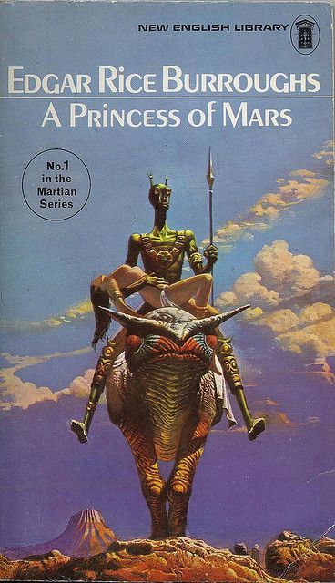 A Princess of Mars by Edgar Rice Burroughs. 1975 New English Library edition. Cover Illustration by Bruce Pennington.