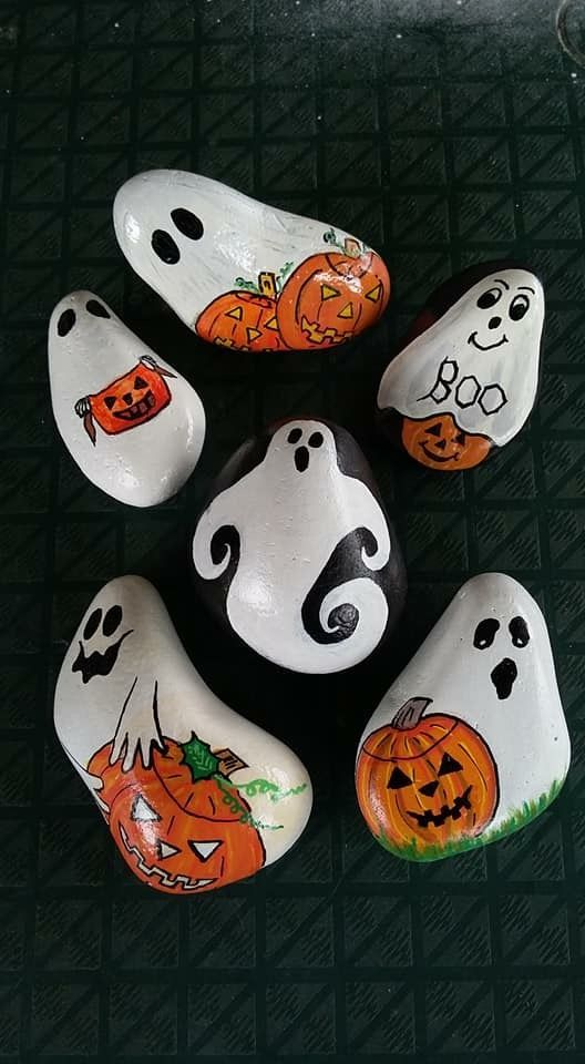80 gruselige Halloween Painted Rock Ideen   – Art