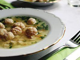 Recette - Soupe à la scarole et boulettes de dinde