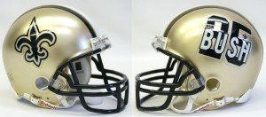 New Orleans Saints Reggie Bush Replica Mini Helmet