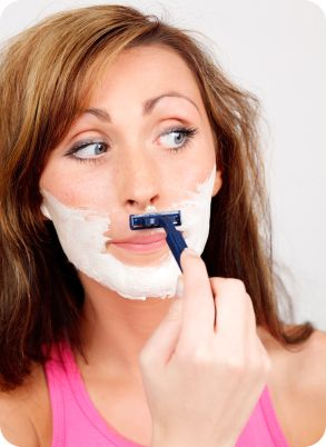 get rid of unwanted hair! Rub coffee grounds mixed with baking soda. The baking soda intensifies the compounds of the coffee breaking down the hair follicles at the root!