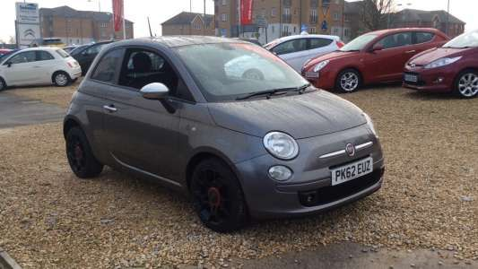 Used 2012 (62 reg) Grey Fiat 500 0.9 TwinAir Street 3dr for sale on RAC Cars