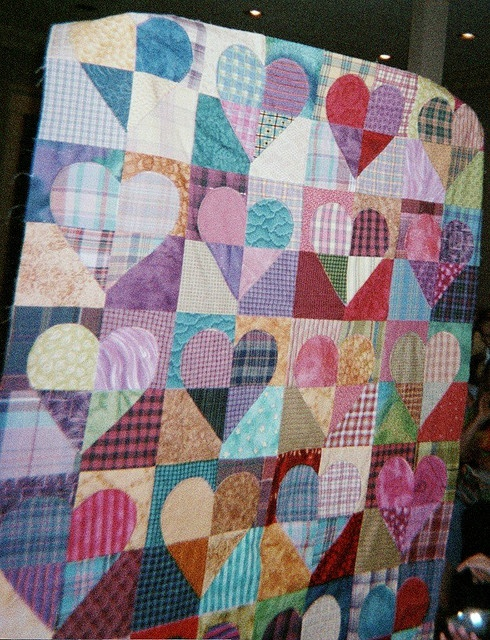 patchwork within the hearts