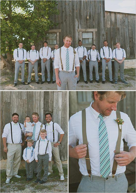Inspiração: Visual descolado do noivo e padrinhos para casamento Boho chic!