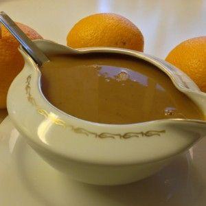 Recept på apelsinsås från Hssons Skafferi