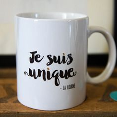 le mug je suis unique sign la licorne tasse a. Black Bedroom Furniture Sets. Home Design Ideas