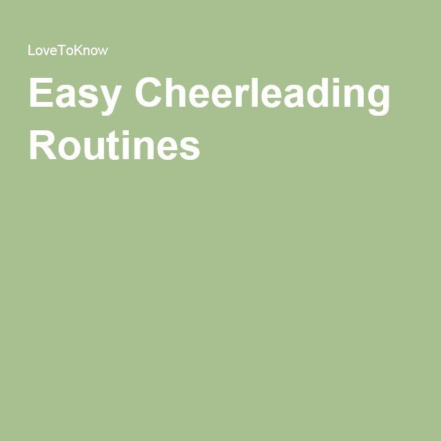 Easy Cheerleading Routines