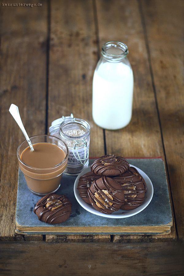 Chocolate Caramel Cookies   +++keksunterwegs.de+++