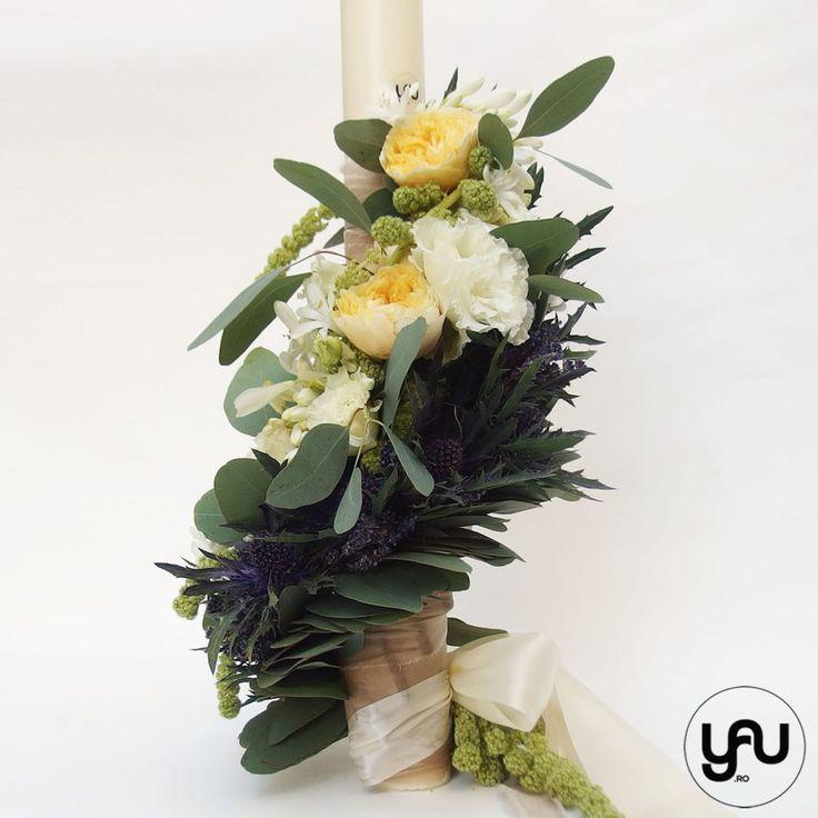 Lumanare botez trandafiri de gradina | YaU Concept BLOG