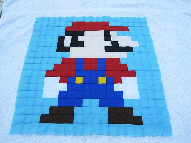Super Mario Brothers QAL Block 1 by twiddletails, via Flickr