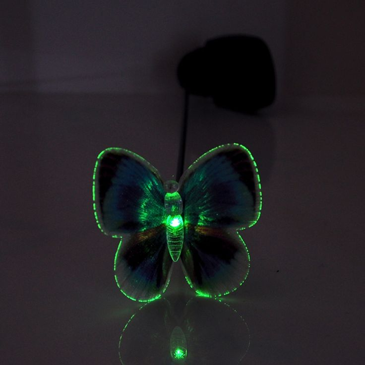 2pcs/lot nieuwe tuin decoratie pad manier zonne-licht vlinder led lamp landschap verlichting