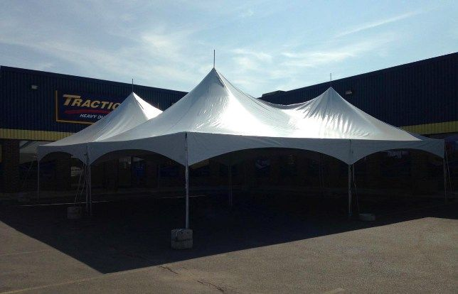 Tent In Parking Lot