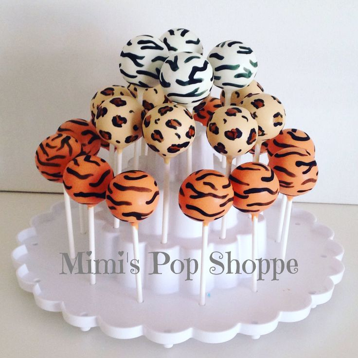 Safari Animal Print Cake Pops