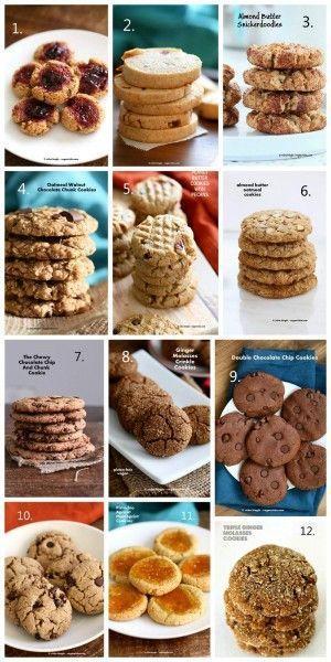 Vegan Christmas Cookies Recipes ! http://VeganRicha.com #vegan #christmas #holiday #cookies