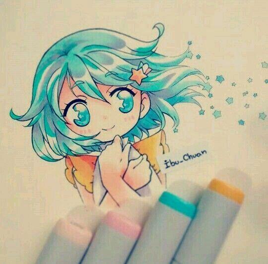 copic drawings kawaii
