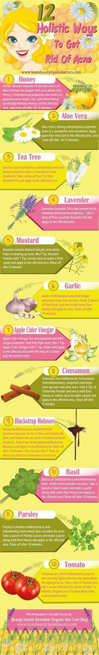 Acne 12 #Holistic Ways To Get Rid Of #Acne- #Infographic...