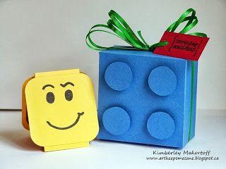Lego Man card and box!