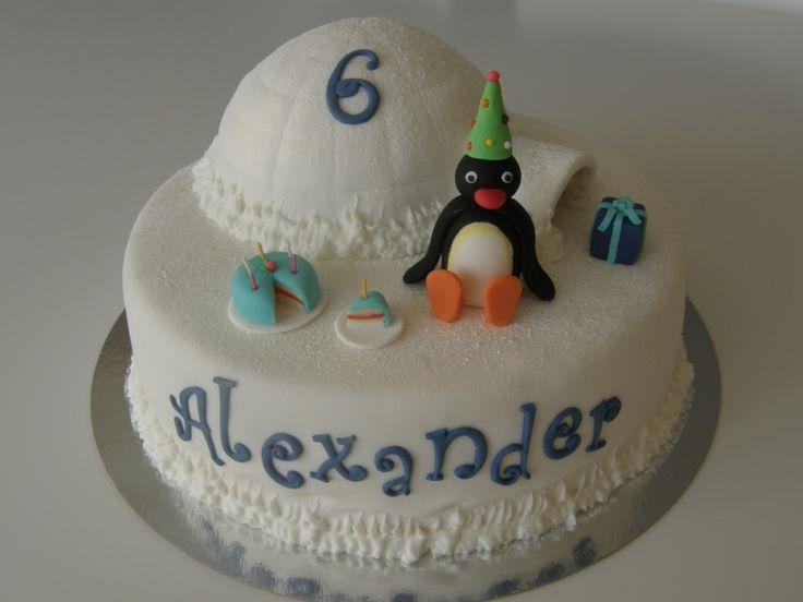 Pingu cake - Pingu and his igloo