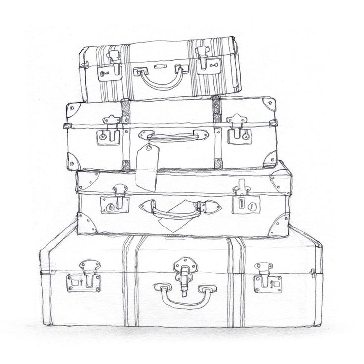 black and white suitcase clipart - Google Search                                                                                                                                                     More