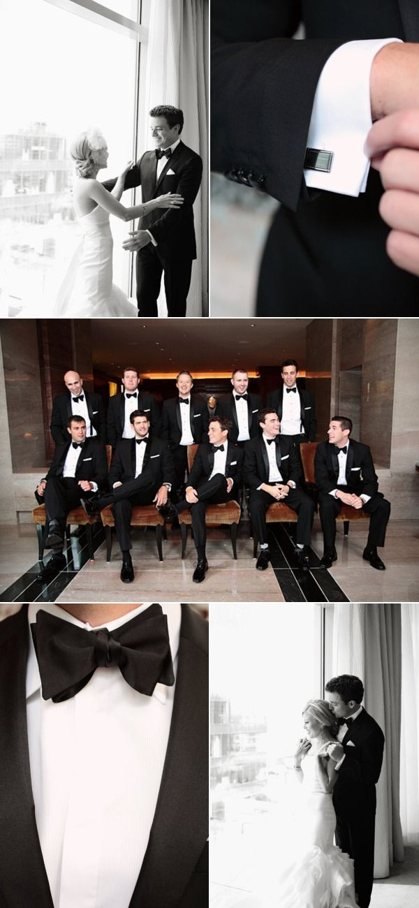 Love the Groom's Tux! Groom's Tuxedo: Hugo Boss via Nordstrom / Groomsmen's Tuxedos: New York Bride & Groom