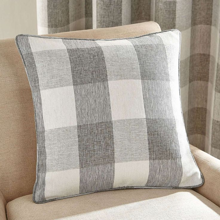 Natural Skye Square Cushion | Dunelm