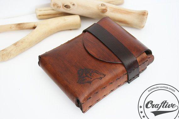 Cigarette Case Cigarette Lighter Leather by CraftiveLeather