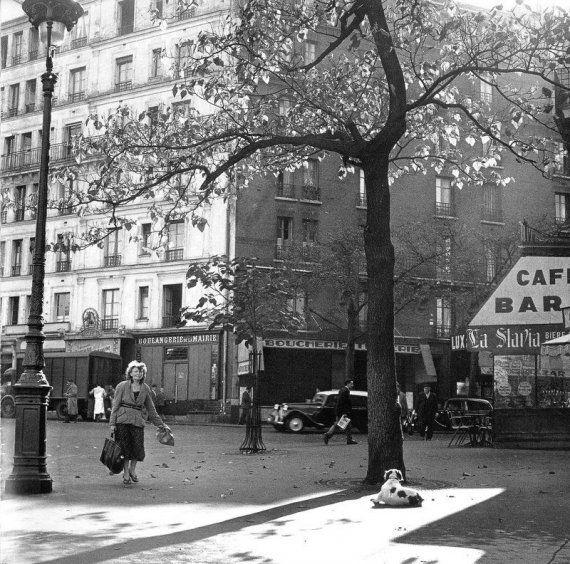 La Place d'Italie à l'angle de la rue Bobillot 1950 (Photo Edith Gérin)