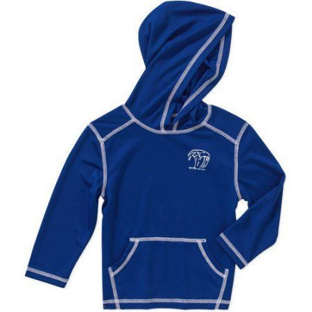 Op Baby Toddler Boy Long Sleeve Hooded Swimwear Cover Up, Blue
