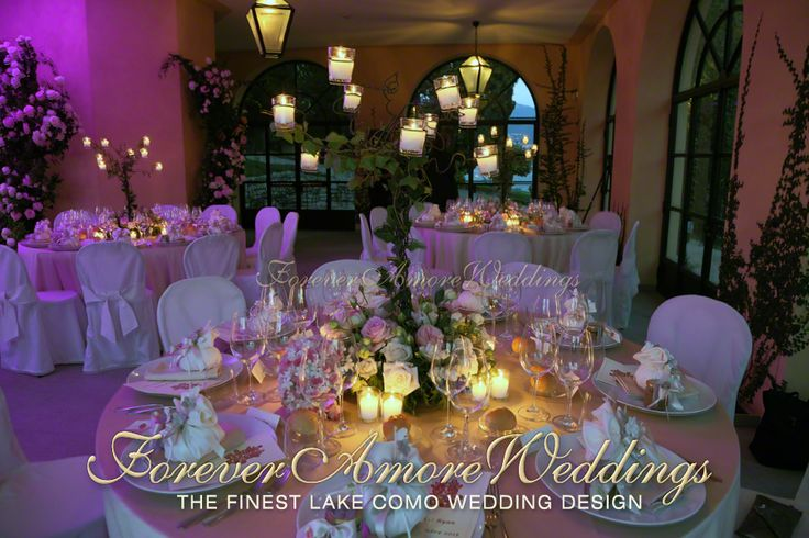 Romantic wedding reception at Villa Balbianello, Lake Como. Event by ForeverAmoreWeddings © #foreveramoreweddings #villabalbianelloweddings