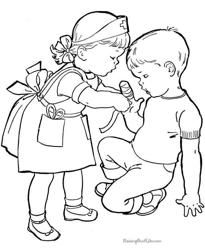 cute kids coloring pages free - Drawings For Children To Color