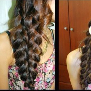 Mermaid Tail Braid I want someone to do this to my hair!!!