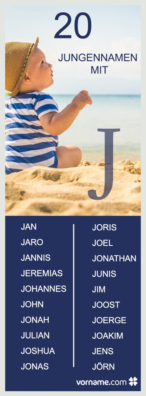 Jaro, Joshua oder Jonas - Du bist auf der Suche nach einem Vornamen für Deinen Sohn? Schau Dich um in unserer Liste der Namen mit J!